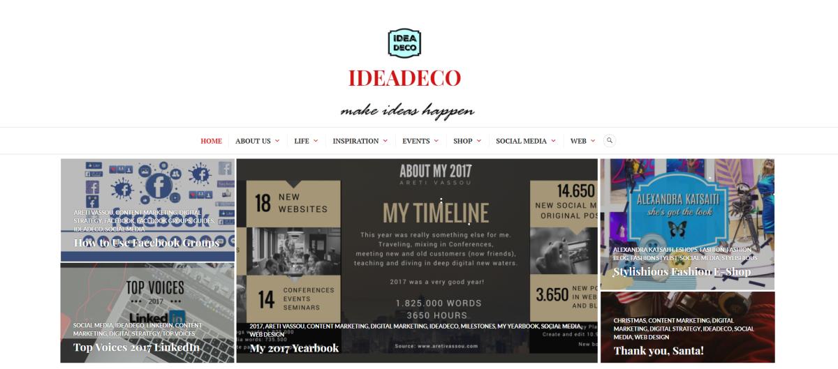 IDEADECO ARETI VASSOU WEB DESIGN