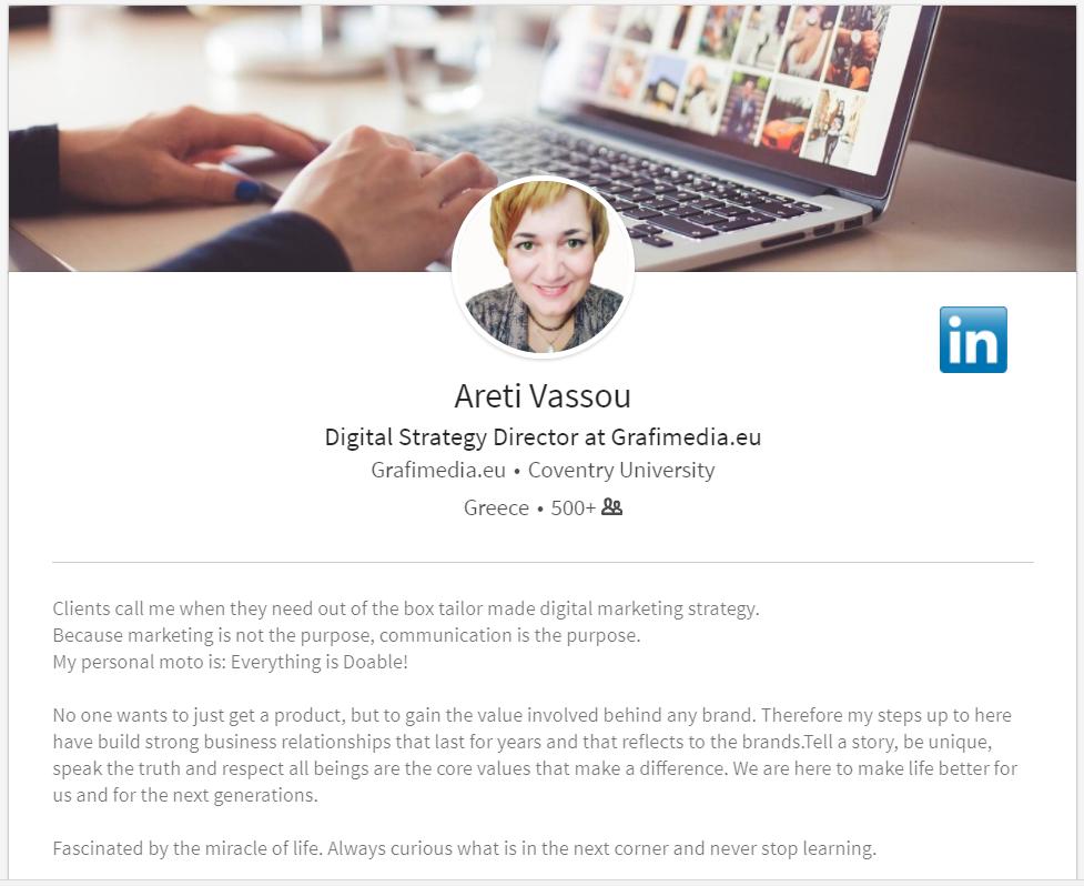Areti Vassou LinkedIn