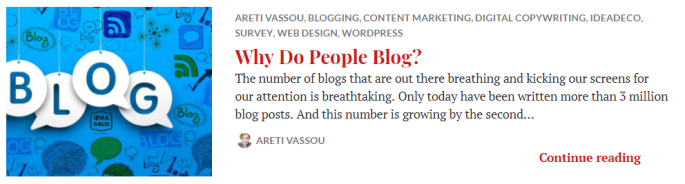 Why Do People Blog by Areti Vassou at Ideadeco, 2018